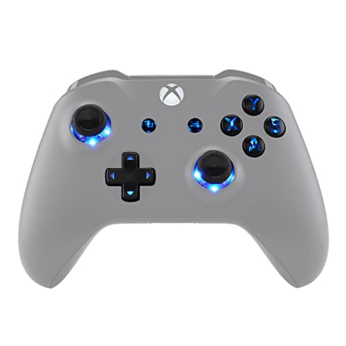 eXtremeRate LED Kit (DTF) Multicolore Lumineux D-Pad Joysticks Boutons Vue Menu ABXY pour Xbox One Standard, Xbox One S X Manette Contrôleur 7 Couleurs 9 Modes avec Boutons Symboles Classiques