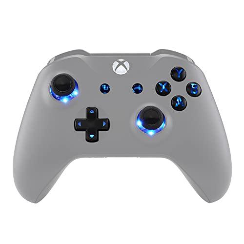 eXtremeRate Botones para Mando Xbox one LED Multicolores Botón de D-pad Joysticks Vista Menú ABXY Acción Teclas (DTF)LED Kit para mando Xbox one Standard Xbox one S X 7 Colores 9 Modos-Símbolo Clásico