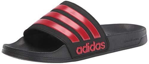 adidas Men's Adilette Shower Slides Sandal, Black, 7