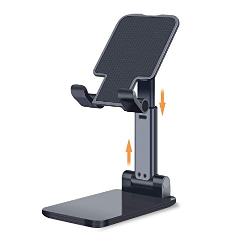 BKN® Adjustable Foldable Cell Phone Portable Stand for Desk Desktop Mini Tablet Stand Compatible with Mobile Phones/Mini Tablet/Kindle (Stand K2)
