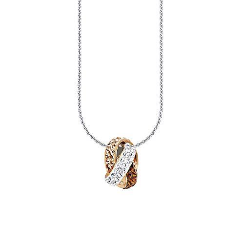 Amor Kette mit Anhänger für Damen, Sterling Silber 925, Kristallglas Fantasie