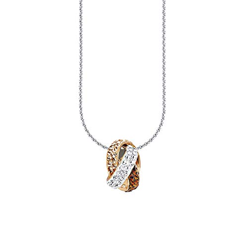 amor Kette mit Anhänger für Damen, Sterling Silber 925, Swarovski Kristall® Fantasie