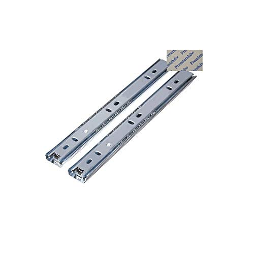 Slide and Bearing 27mm Wide Ball Bearing Drawer Slide Detachable 2 Fold Keyboard Desk Pull-Out Tray - (Length: 18inches 440mm)
