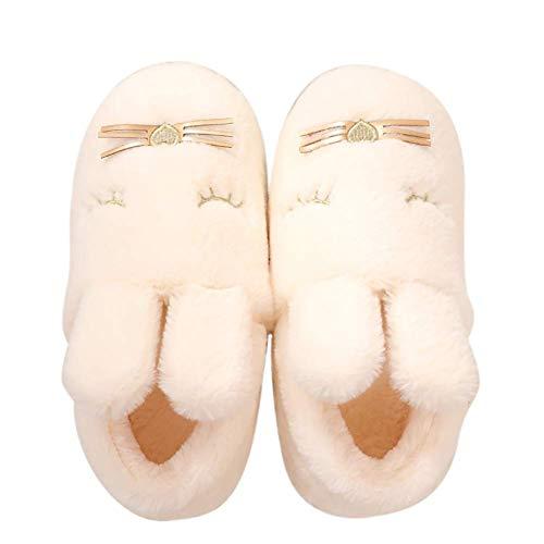 3D Novedad Zapatillas Cute Cartoon Indoor Zapatillas Animales Caliente Suave Cómodas Antideslizantes Otoño Invierno para Mujeres,B,40~41