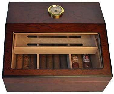 Rosewood Veneer Cigar Dedication humidor Large-Capaci Max 44% OFF Display Glass