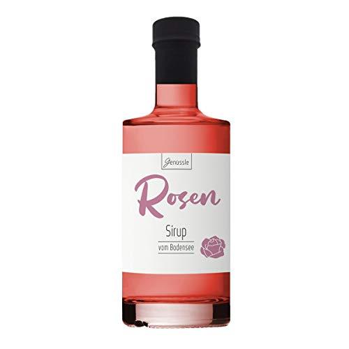 Rosenblüten-Sirup 350ml - Genüssle Rosensirup vom Bodensee - Rosen Sirup aus echten heimischen Rosenblüten - natürlich ohne Zusatzstoffe, Größe:350 ml