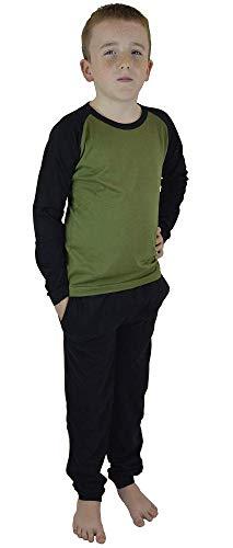 CityComfort Pixel Pyjamas Jungen Nachtwäsche für Kinder Pijamas 100% Baumwolle Hoodie Sweatshirt Trainingsanzug für Jungen Videospiel Pj Set (9-10 Jahre, Khaki)