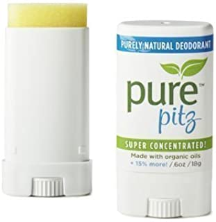 PURE PITZ Deodorant Stick, 0.6 OZ