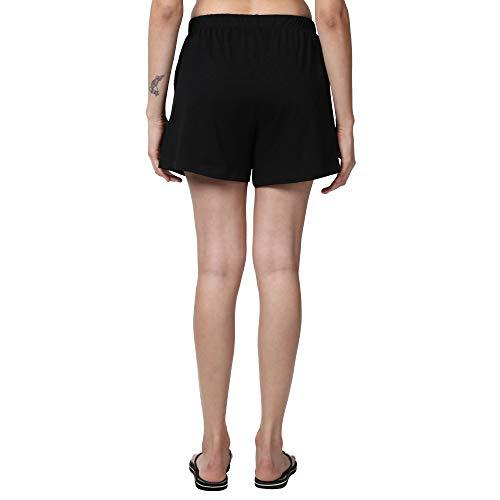 Enamor E062 Basic Cotton Shorts Jet Black