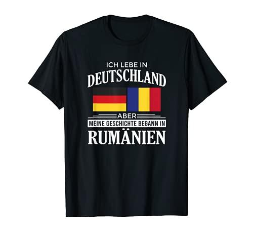 Geschichte Begann In Rumänien Heimat Rumäne Flagge Romania T-Shirt