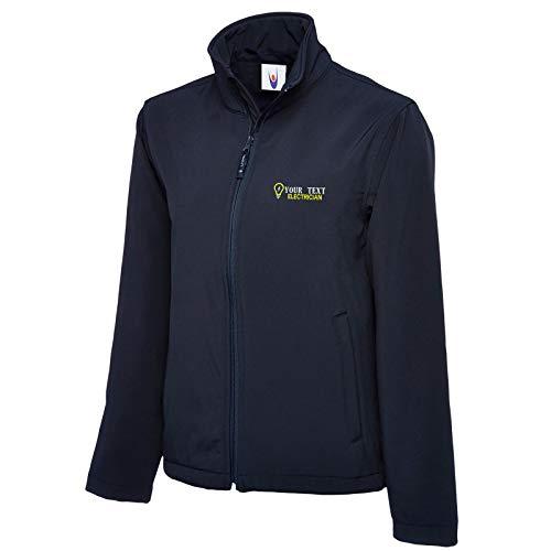 StitchPrint Personalisierbare bestickte Softshell-Jacke, Elektriker-Arbeitskleidung, Uniform-Logo. Gr. XXL, navy