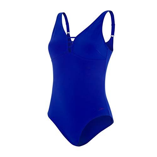 Speedo Damen Opalgleam Badeanzug, Chroma Blue, 34 (DE 38)