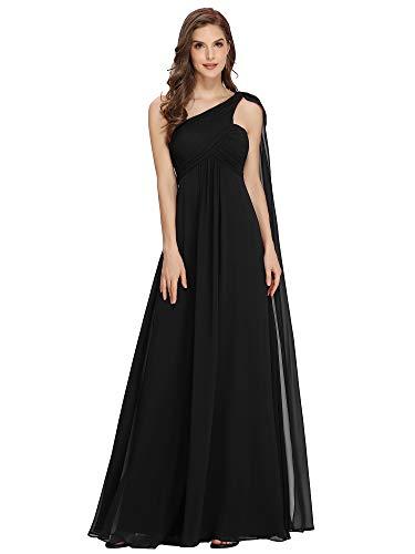 Ever-Pretty Womens Elegant One Shoulder Trailing Evening Dress 14 US Black