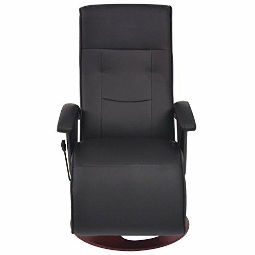 Tidyard Elektrischer Massagesessel Kunstleder Schwarz Electric Massage Chair Imitation Leather Black TV Chair Relaxing TV Armchair Rotated Free Multiple Adjustable Back Rest