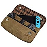 Hide & Drink, Waxed Canvas Switch Compatible Carrying Case, Urban Travel Pouch, Soft Storage Bag, Scratch & Bump Protection, Minimalist Essentials Handmade Includes 101 Year Warranty :: Fatigue