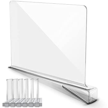 UNIhome Premium Acrylic Shelf Dividers for Closets - Clear Shelf Divider for Home Storage Organization - Closet Shelf Divider for Kitchen Cabinets Bedroom Office Shelving - Acrylic Shelf Dividers  6