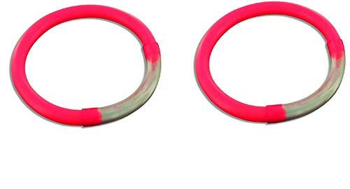 Set: 2 pezzi anello segnalatore di abboccata rosso + adesivo Petri Heil