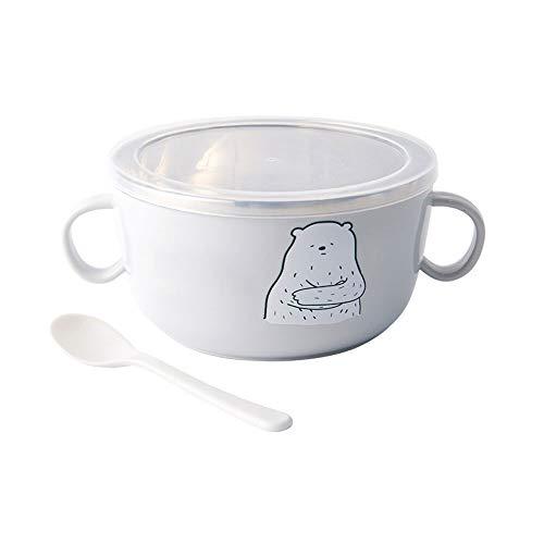 DEI QI Bols en plastique, grands bols à céréales, grands bols à soupe, allant au micro-ondes, au lave-vaisselle, 4 couleurs (Couleur : Gris)