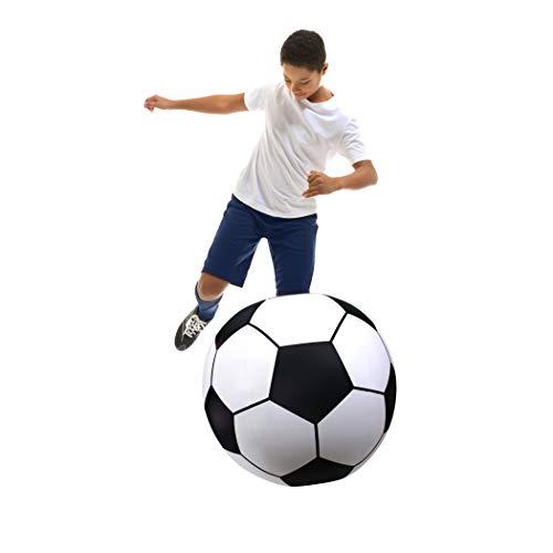 GoFloats Giant Inflatable Soccer Ball - Made From Premium Raft Grade Vinyl, Black & White 2.5'