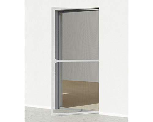 Hordeur, insectenwerende deur 210x100 cm - frame: wit/stof: antraciet