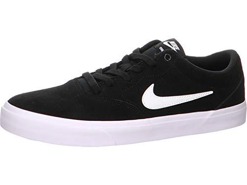 Nike Herren SB Charge Suede Sneaker, Black Black White, 45.5 EU