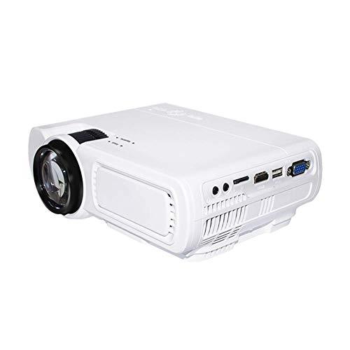 DBGS Draagbare videoprojector, 1800 lumen, 800 × 480 fysische resolutie projector met 30.000 uur LED-lampen levensduur compatibel met TF-kaart HDMI, VGA, AV, USB