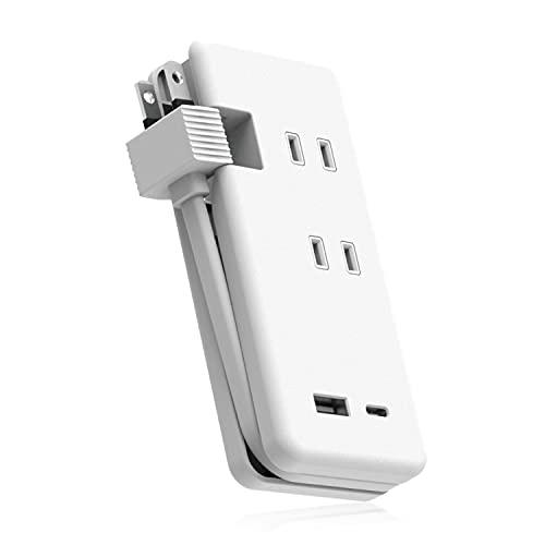 エレコム 電源タップ USB ケーブル収納 15W コンセント×3個口 USB-A×1ポート USB-C×1ポート コンセント ホワイト ECT-1802WH