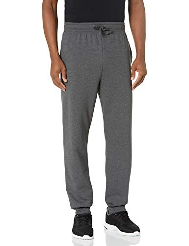 Hanes Men's Jogger Sweatpant with Pockets, Charcoal Heather, X Large