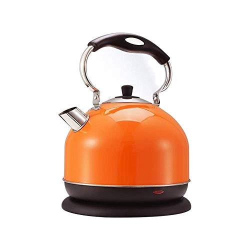 Hervidor de agua totalmente automatico de 3 l, 2000 W, para quemar, hervidor de agua, botella de agua caliente, tetera electrica prepara rapidamente tetera (naranja)