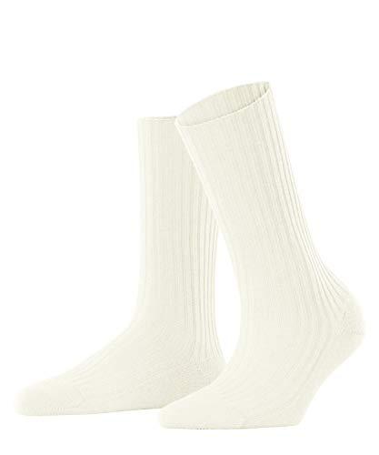 FALKE Damen Cosy Wool Boot W SO Socken, Weiß (Off-White 2049), 39-42 (UK 5.5-8 Ι US 8-10.5)