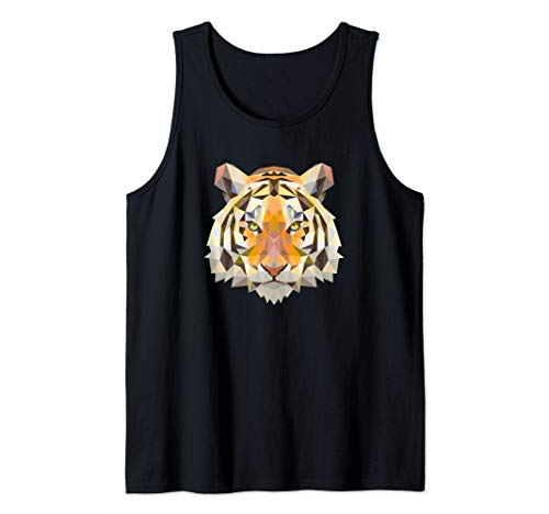 Geometric Bengal Tiger Animal Big Cat Inspired Jungle Gift Tank Top