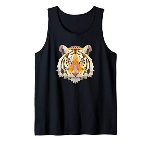 Geometric Bengal Tiger Animal Big Cat Inspired Jungle Gift Tank Top