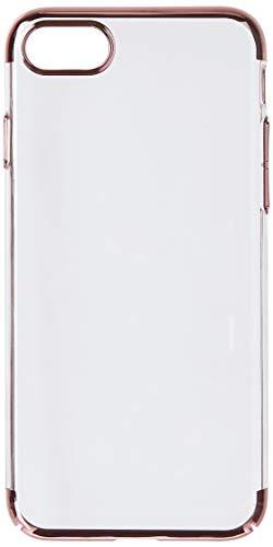 Capa Crystal Case Transparente c/ lateral Rose Iphone 8/7