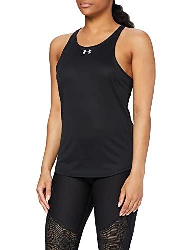 Under Armour UA Qualifier Tank Camiseta Sin Mangas, Mujer, (Black/Black/Reflective (001), S