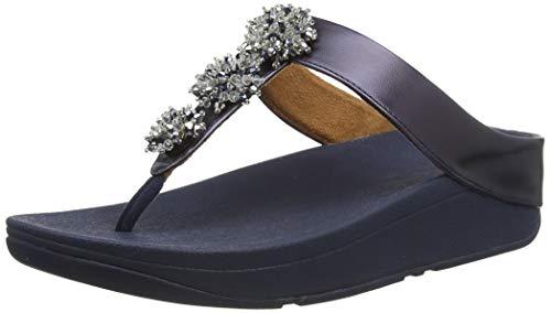Fitflop Fino Toe Post-Galaxy Bead, Chanclas Mujer, Maritime Blue, 38 EU
