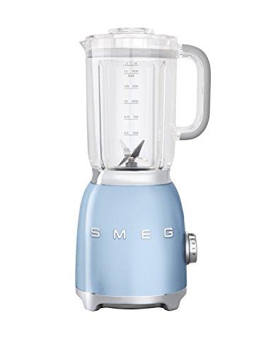 SMEG Batidora BLF01PBEU, 800 W, 0.45 litros, Aluminio, 4 Velocidades, azul pastel