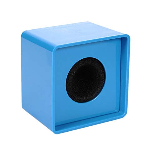 Aysekone Portable Blue ABS Injection Molding Square Cube Shaped Interview Mic Microphone Logo Flag Station