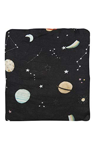 """Loulou Lollipop Soft Muslin Swaddle Blanket, Best Baby Receiving Blanket, 47"""" x 47"""" Baby Swaddle Wrap – Planets Baby Blanket for Boys and Girls"""