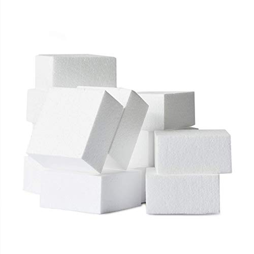 Styrofoam Blocks, 6-Count Smooth Polystyrene Foam Blocks for Crafts, 4 x 4 x 4 Inches
