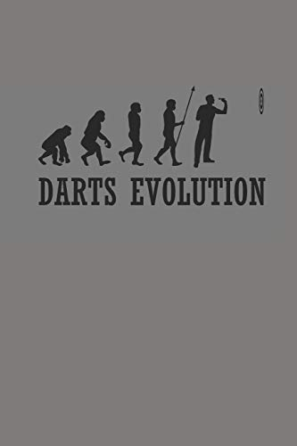 DARTS EVOLUTION: NOTIZBUCH Dart Bullet Journal 6x9 Darts Notebook dotgrid