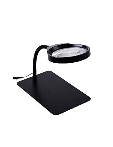 Leeselupe led-lamp, met standaard en praktische verlichting, vergrootglas voor het lezen, gesloten werk, werkbank, werkzaamheden, hobby, naaien, reparatie 10 keer in het zicht