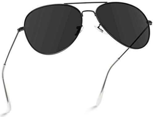 WearMe Pro - Gafas de sol de estilo aviador o piloto, polarizadas, con montura de metal
