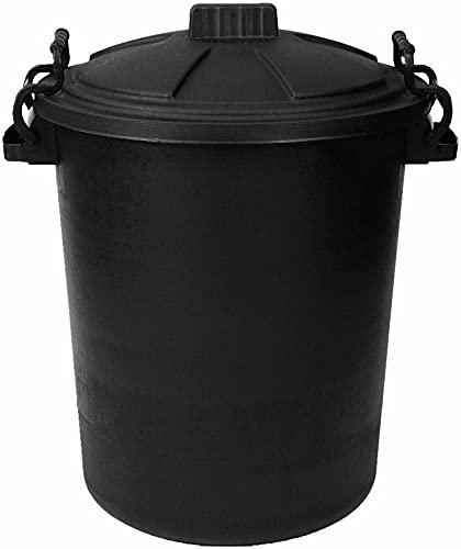 80L Capacity Outdoor Waterproof Garbage/Rubbish Bin With Lockable Lid