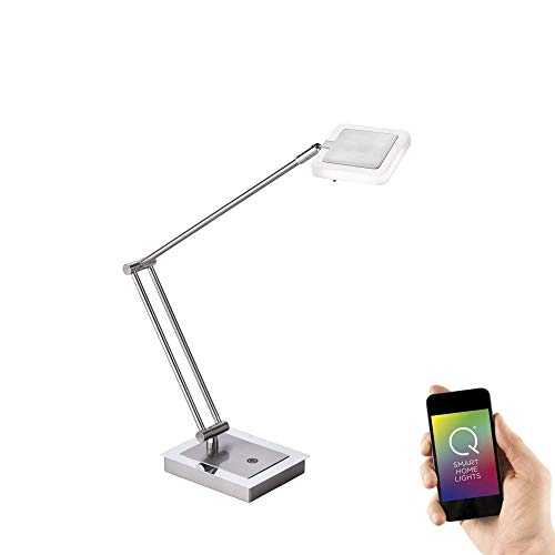 Paul Neuhaus 4321-55 Q-Vidal Schreibtischleuchte Smart Home RGBW Farbwechsel FB