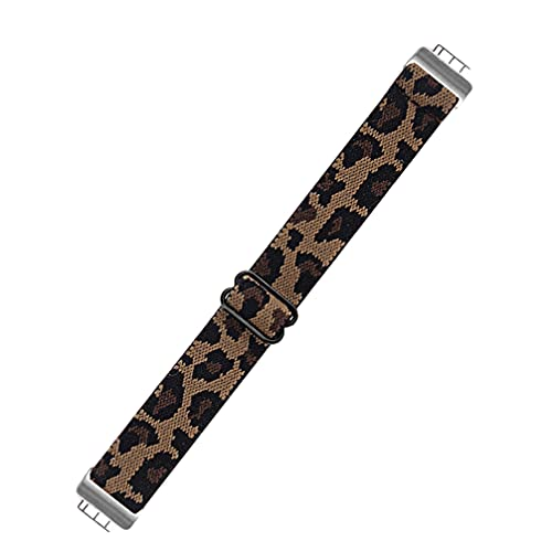 Abaodam Correa de reloj de leopardo de nailon elástico para reloj de repuesto para hombres y mujeres