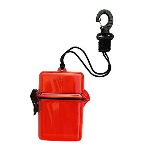 YEZIN Accesorios para Kayak del Buceo con escafandra Kayak Impermeable seco Caja de Engranajes contenedor Accesorios Caso y Cuerda, Clip for el Dinero, Tarjetas de identificación, licencias, Claves