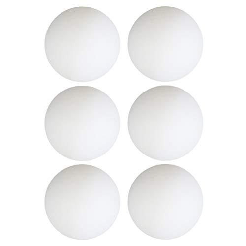 BESPORTBLE 6 pelotas de ping pong lavables para niños, mujeres, hombres, escuela, gimnasio al aire libre (blanco)