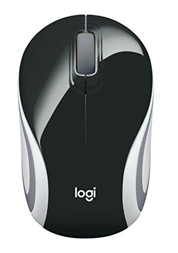 Mini Mouse sem fio Logitech M187 com Conexão USB e Pilha Inclusa - Preto