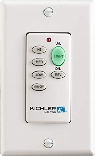 Kichler 370038MULTR, 3 speed with light dimming & on/off toggle. Non-reversing (DC Motor Only)