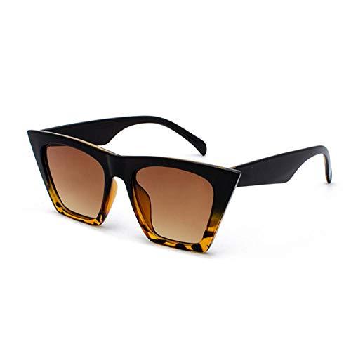 Sunglasses Gafas De Sol De Nueva Marca Gafas Cuadradas Ojos De Gato Personalizados Gafas De Sol Coloridas Tendencia Gafas De Sol Versátiles Cortina Uv400 Blackleopard